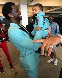 gucci mane and baby asahd were matching at the bet awards