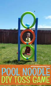 Backyard Olympic Games For Adults Pool Noodle Diy Toss Game Pool Noodles Tossed And Noodle