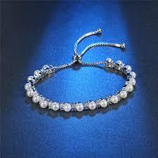 white gold ladies bracelet images Roxi charm pearl beads bracelets bangles for women luxury white jpeg