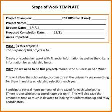 Scope Of Work Template Excel 15 Scope Of Work Templates Plantemplate Info