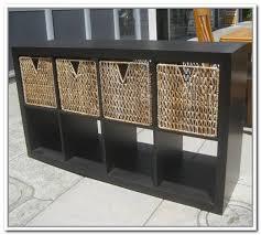 Storage Bin Shelves by Storage Shelf With Wicker Baskets Popular Shelf 2017