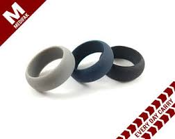 Rubber Wedding Rings by Custom Silicone Wedding Ring Gray Silicone Wedding Band