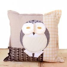 great horned owl designer art pillow case tracey cameron creative