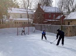 Backyard Ice Rink Brackets Backyard Hockey Rinks From Simple To Elaborate The Columbian