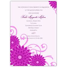 quince invitations dahlias purple quinceanera invitations paperstyle