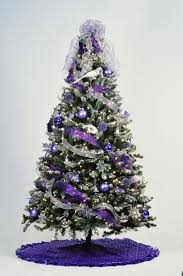christmas decor christmas tree decorations purple and silver u