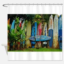 Surfer Shower Curtain Hawaiian Surfer Shower Curtains Cafepress