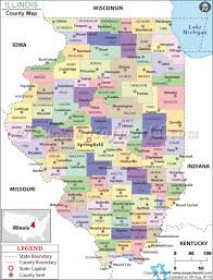 Map Of Chicago Airport Illinois County Map Illinois Counties Map Of Counties In Illinois
