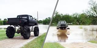 watch monster truck videos watch a monster truck hero save a stranded neighbor in flood