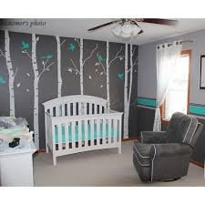 Wall Tree Decals For Nursery Birch Tree Decal Vinyl Wall Decal Tree With Birds Decals Wall