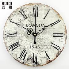 Home Decor Clocks Buy World Clock Wall And Get Free Shipping On Aliexpress Com