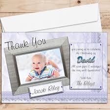 Invitation Cards For Baptism 10 Personalised Boys Birth Christening Baptism Thank You Photo