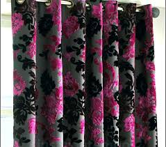 Pink Velvet Curtains Pink Curtains Pink And Black Curtains Pink Velvet