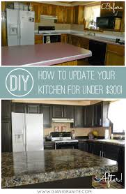 diy kitchen cabinet makeover kitchen update on a budget countertop paint that looks like