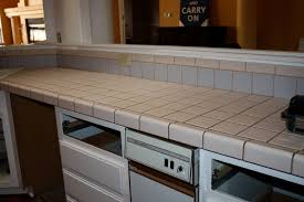 Tile For Kitchen Countertops by Remodelaholic Quick Install Of Concrete Countertops Kitchen