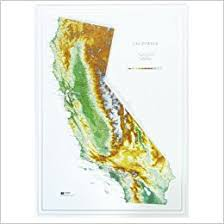state map of california hubbard scientific raised relief map 951 california state map