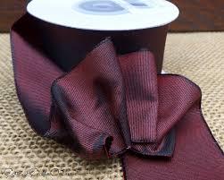 burgundy wired ribbon burlap with burgundy chevron 25 print wired ribbon fall