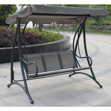 bentley garden 3 seater swing seat with canopy grey
