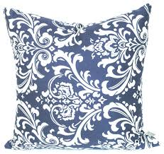 Navy Blue Decorative Pillows Outdoor French Quarter Large Pillow Transitional Outdoor