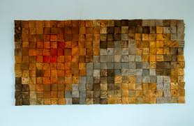 wood wall wood sculpture mosaic geometric