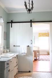 monday makeover new master bathroom sliding barn door