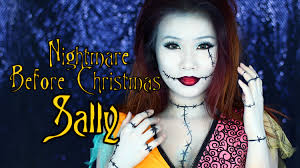 sally nightmare before christmas makeup tutorial youtube