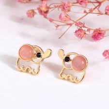 earrings for kids elephant stud earrings fashion design plated kids