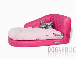 pretty pet imitation leather chaise longue sofa bed in pink