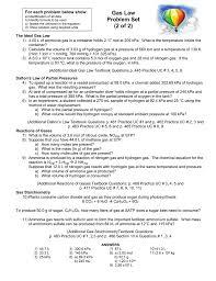 gas law problem set 2 of 2