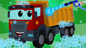 dump truck car wash kids videos learn transport youtube