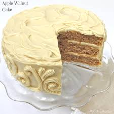 apple walnut cake with maple cheese frosting my cake school