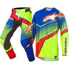 personalized motocross jersey new alpinestars 2017 mx techstar venom blue cyan flo yellow