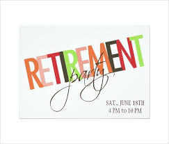 retirement party invitation templates download free u0026 premium