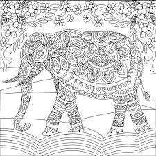 elephant coloring page elephant coloring pages for adults