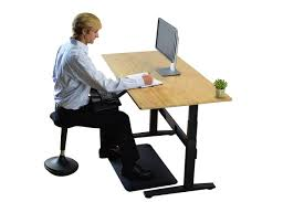 Electric Sit Stand Desk by Rise Up Electric Adjustable Height Sit To Stand Desk With Eco