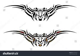 isolated tiger tribal tattoo back vector stock vector 100182416