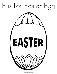e is for easter egg coloring page twisty noodle