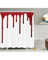 holiday savings bloody shower curtain set flowing blood horror