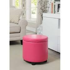 Pink Storage Ottoman Pink Ottomans Poufs You Ll Wayfair