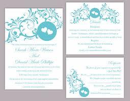 Diy Wedding Invitations Templates Wedding Invitation Template Set Editable Word File Download