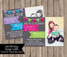 joint birthday party invitation boy and photo birthday