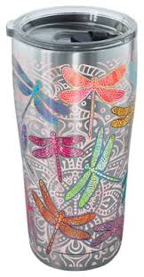 tervis tumbler dragonfly mandala stainless tumbler with clear lid