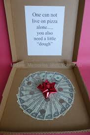 graduation money box money gift idea can t live on pizza alone memories with