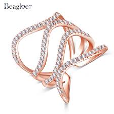 aliexpress buy beagloer new arrival ring gold beagloer special design waves rings delicate ring gold