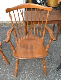 ethan allen table chairs ethan allen early american birch maple diningroom style arm chair
