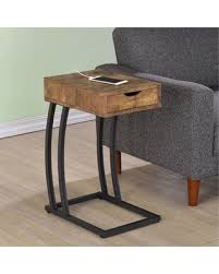on sale now 20 off coaster furniture metal and wood c shaped