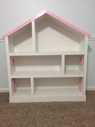 furniture hand painted dollhouse bookcase with three tier and