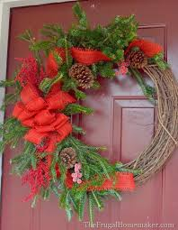 Decorating Grapevine Wreaths For Christmas by Grapevine U0026 Evergreen Wreath Made With Free Tree Cuttings