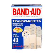 Fabuloso Curativo Band Aid Transparente - Saúde - Drogaria Araujo @PU33