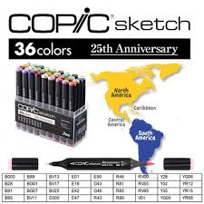 limited edition copic sketch 25th anniversary set version usa
